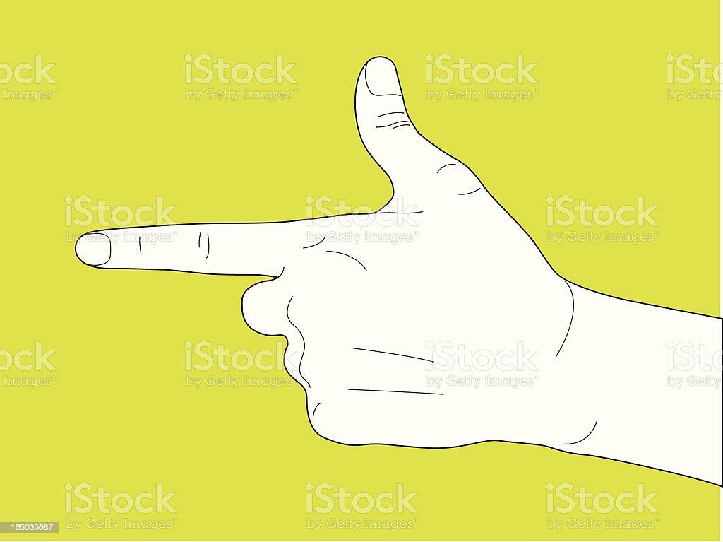 Handgun Hand Gesture royalty-free stock vector art