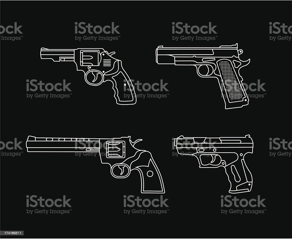 Handgun vector art illustration