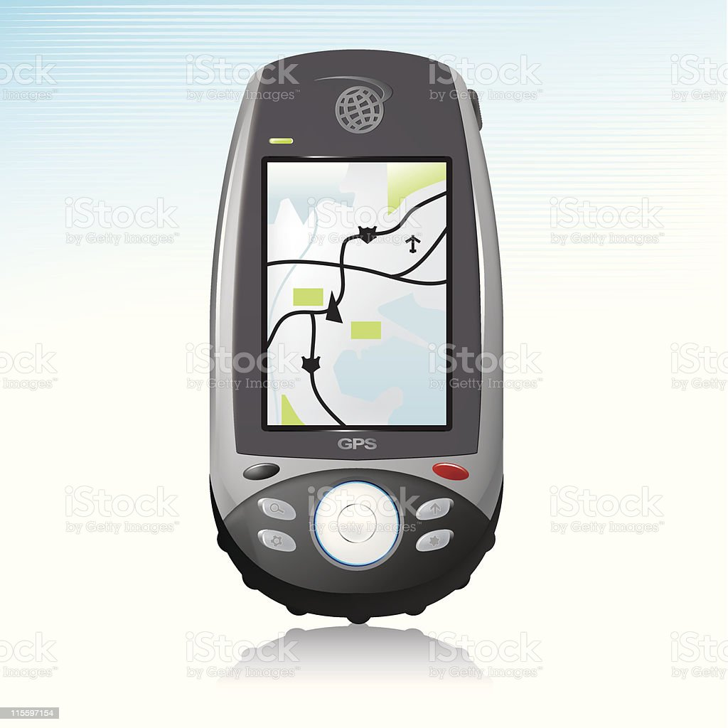 GPS Handheld Device Icon royalty-free stock vector art