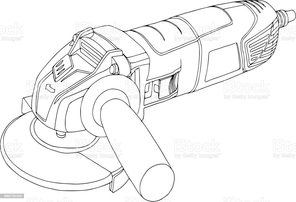 ilustração de serra de circular portátil do poder rebarbadora