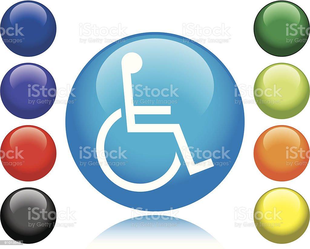 Handicap Icon vector art illustration