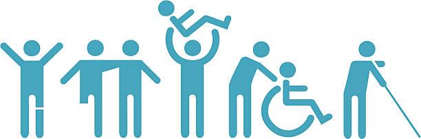 illustrations, cliparts, dessins animés et icônes de icônes pour les personnes à mobilité réduite - aide soignant
