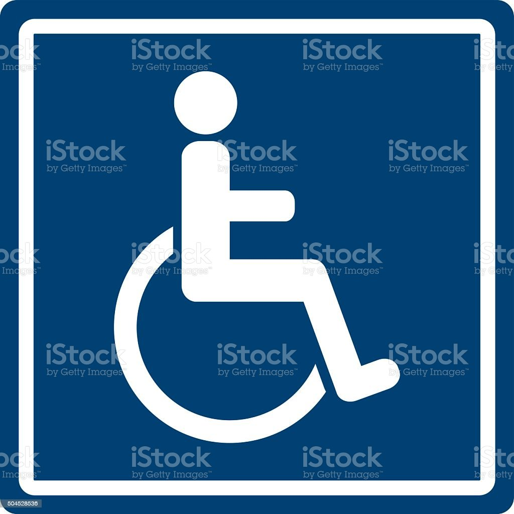 Handicap Sign vector art illustration