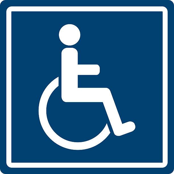 Señal para personas con discapacidades - ilustración de arte vectorial