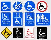 Handicap Symbol Graphic - vector illustration
