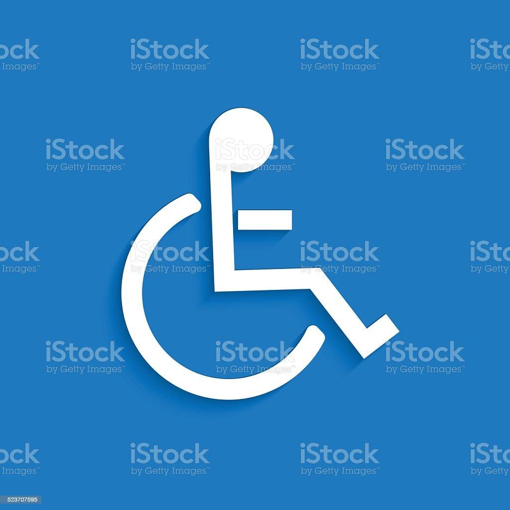 Handicap Symbol vector art illustration