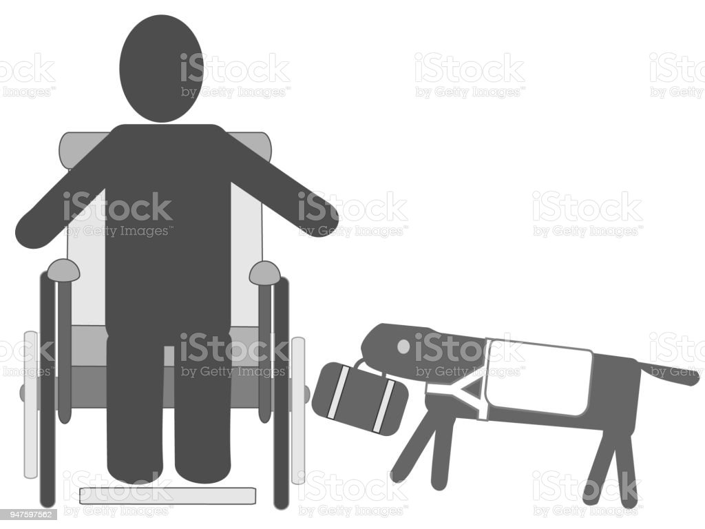 handicapped care icon vector art illustration
