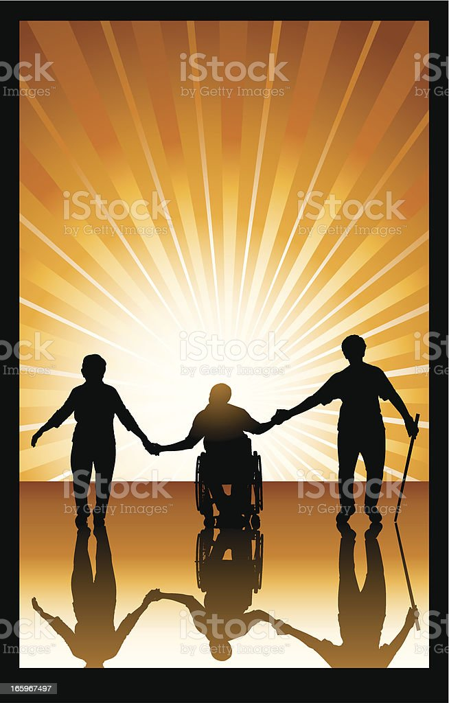 Handicapped or Elderly People - Senior Citizens royalty-free handicapped or elderly people senior citizens stock vector art & more images of adult