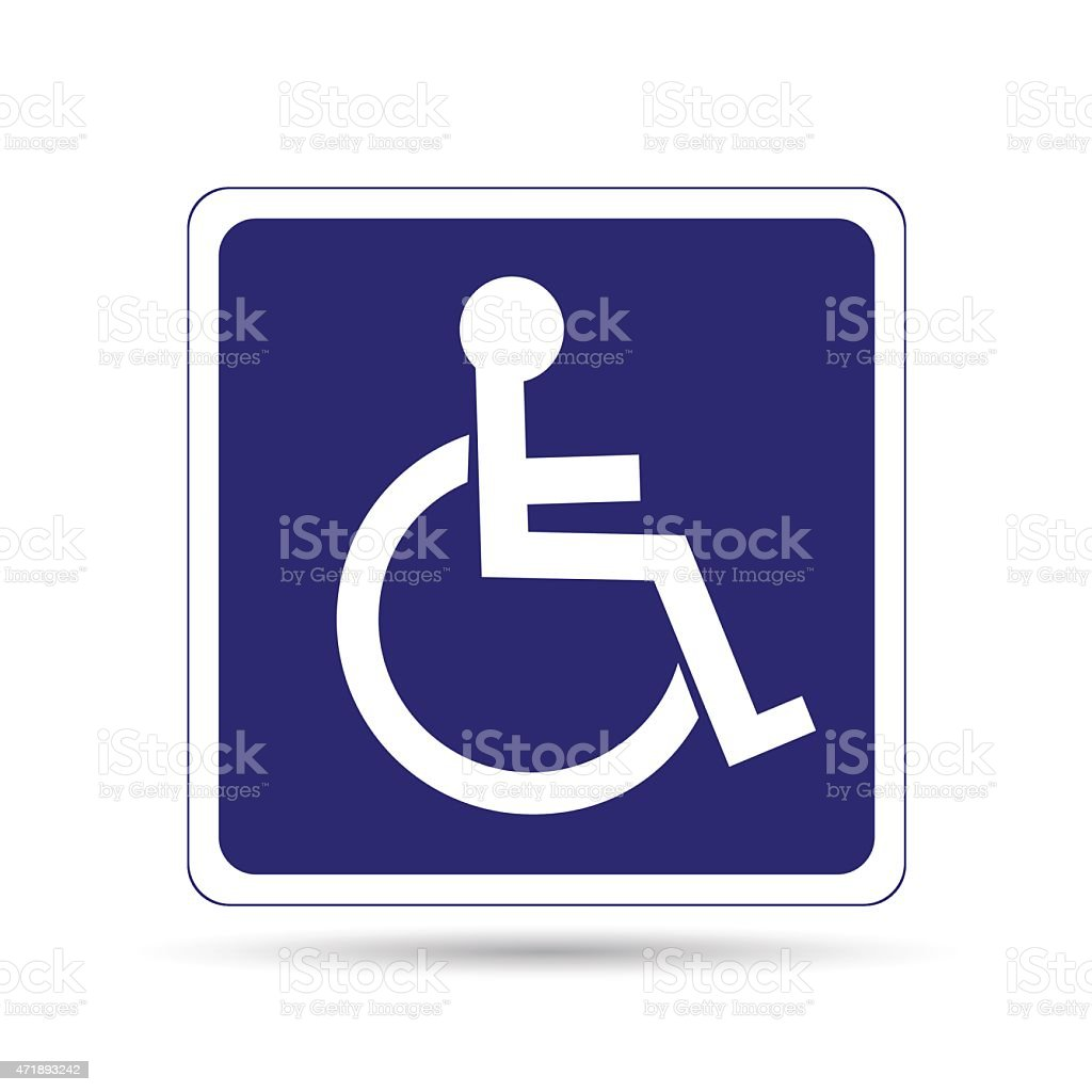 Handicapped person sign vector art illustration