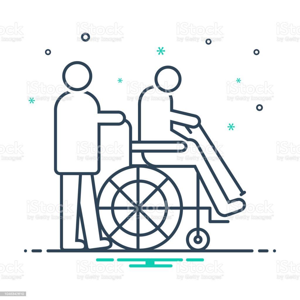 Para personas con discapacidades - ilustración de arte vectorial
