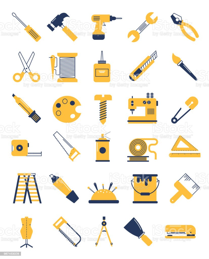 Handicraft And Artistry Tools Stock Vector Art More Images Of Ball