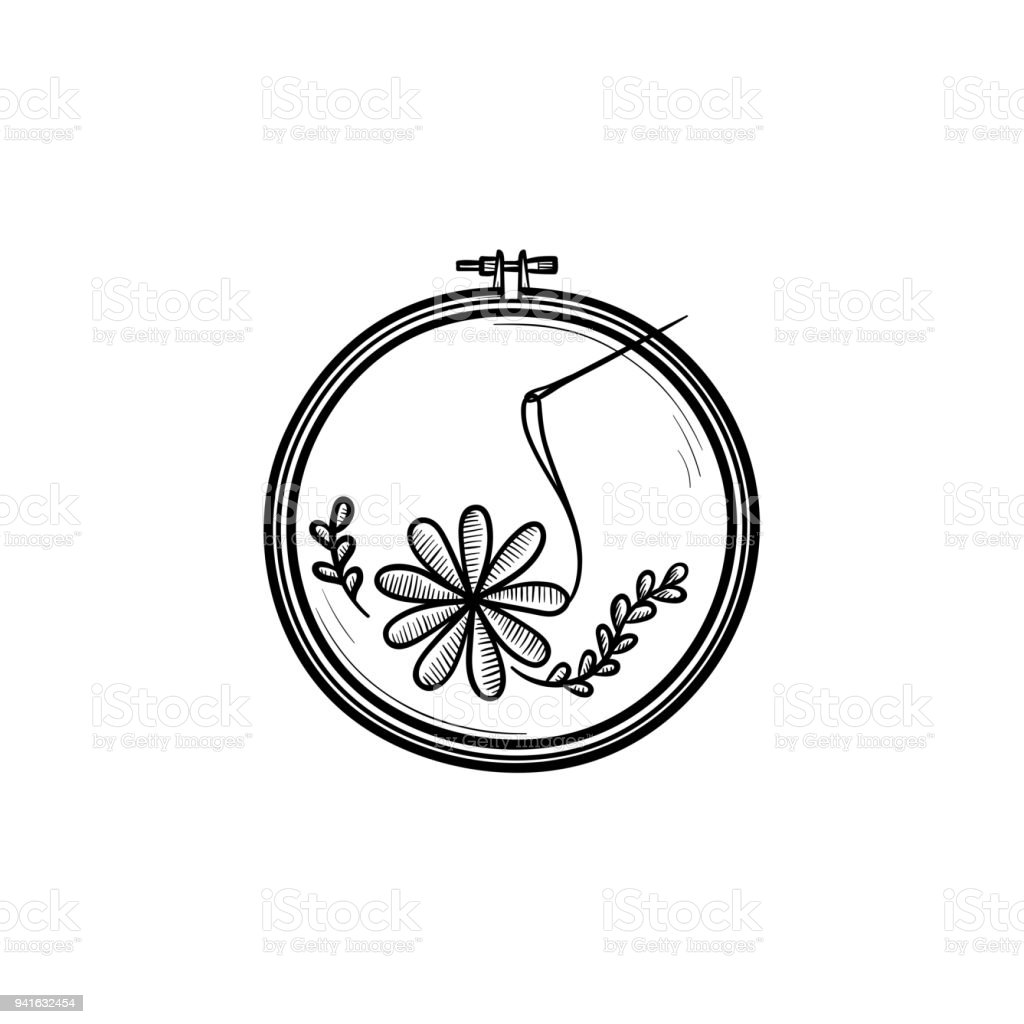 Handicraft hand drawn sketch icon vector art illustration