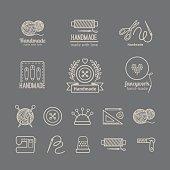 Handicraft logo set