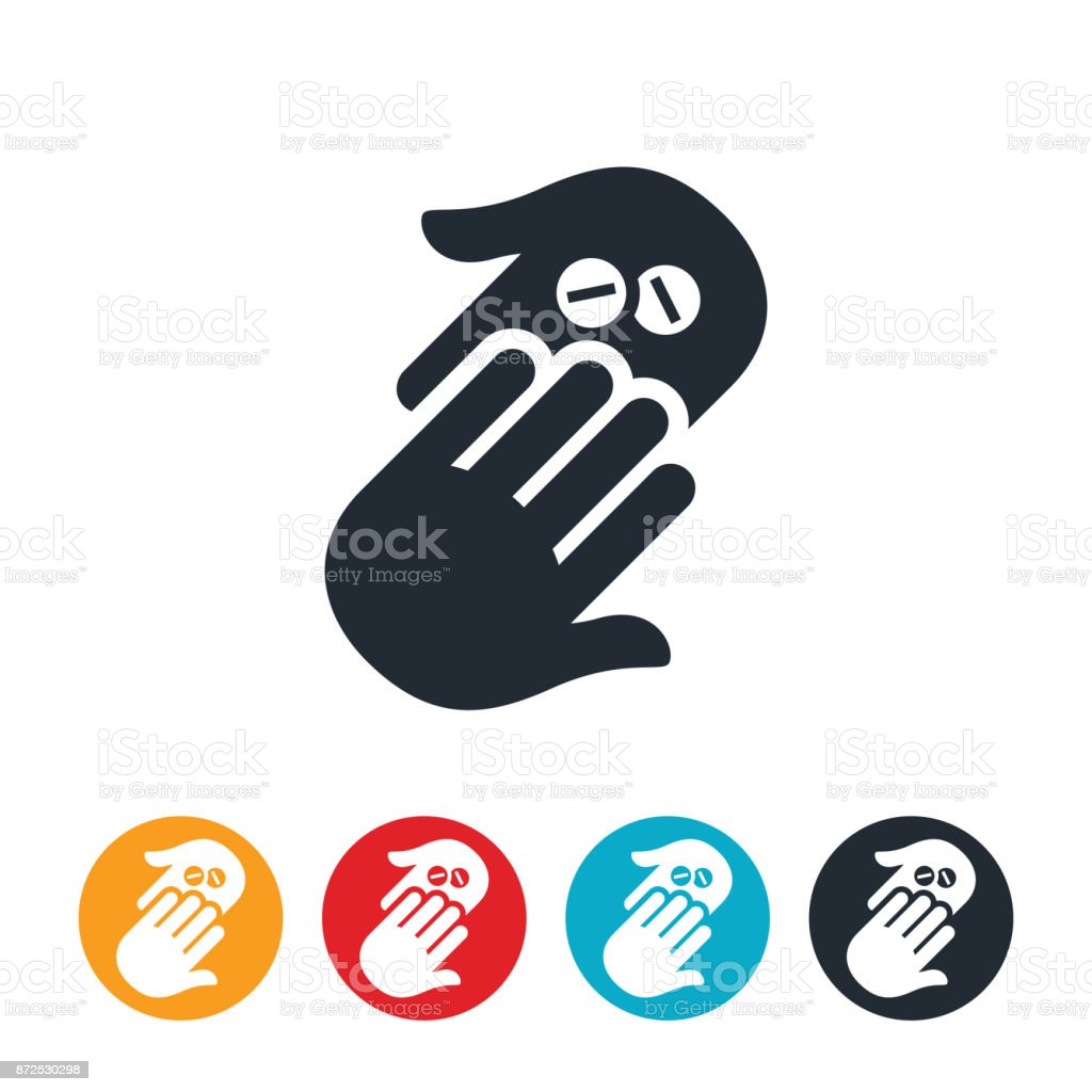 Handing Pills Icon Stock Vector Art More Images Of Addiction