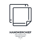 istock Handkerchief editable stroke outline icon isolated on white background flat vector illustration. Pixel perfect. 64 x 64. 1326253660