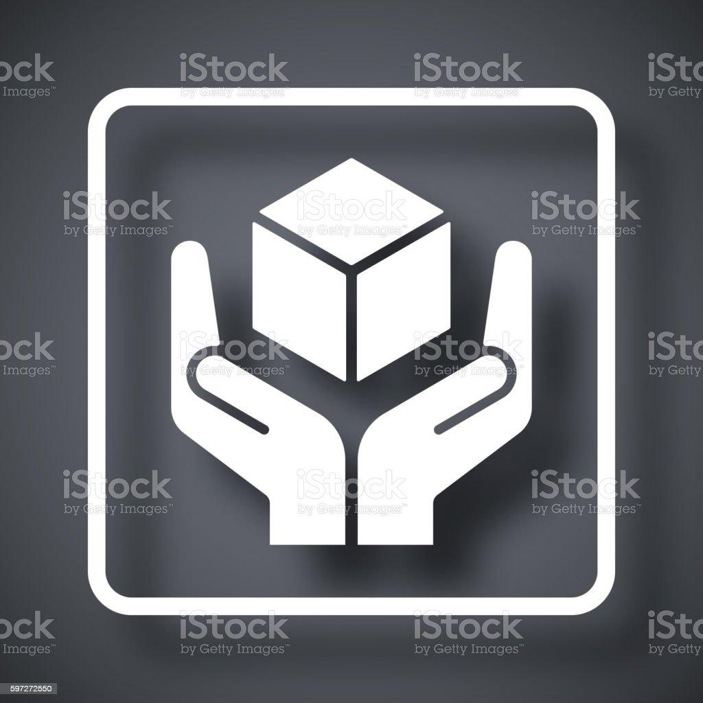 Poignée avec soin emballage symbole poignée avec soin emballage symbole – cliparts vectoriels et plus d'images de affaires finance et industrie libre de droits