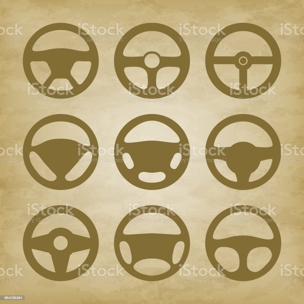 handlebars automotive icons  Steering Wheel royalty-free handlebars automotive icons steering wheel stock vector art & more images of bus