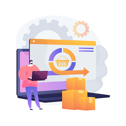 Handling and order processing abstract concept vector illustration.
