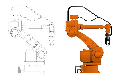 Handling robot in draft and design
