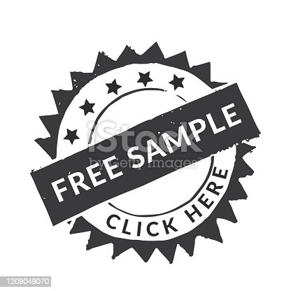 istock Handmade Linocut Rubber Stamp: Free Samples 1209049070