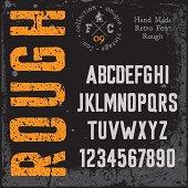 istock Handmade retro font 482482177