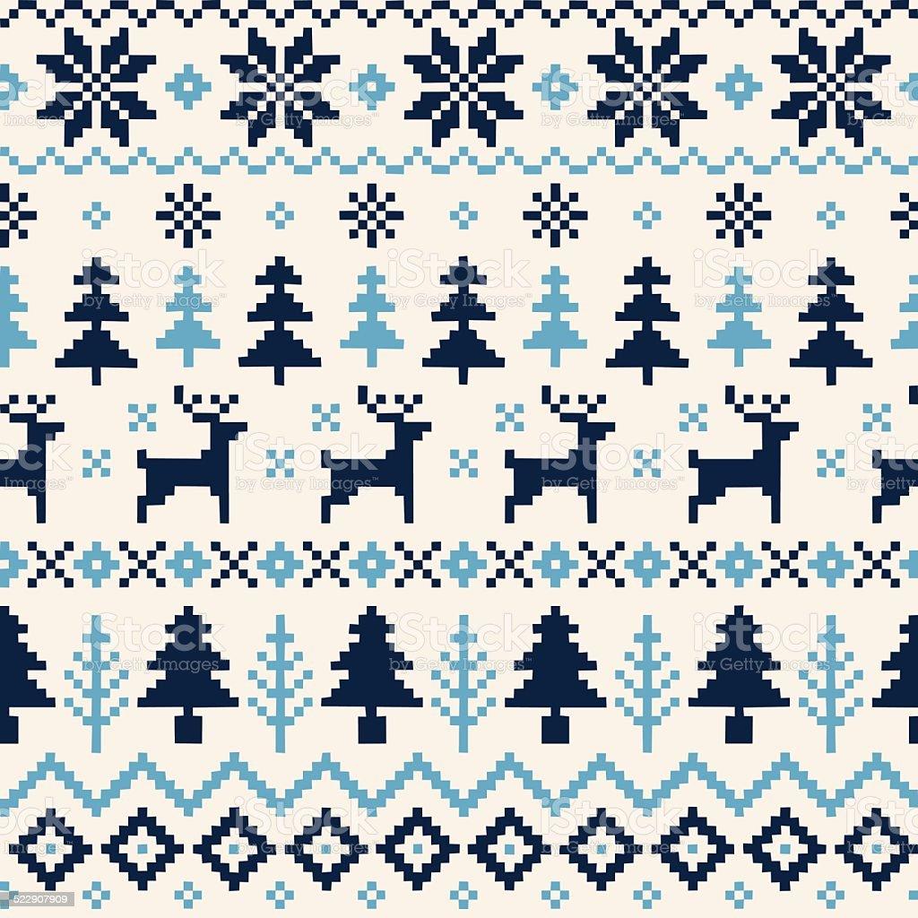 Ilustración de Patrón Sin Costuras Artesanales De Navidad Con Renos ...