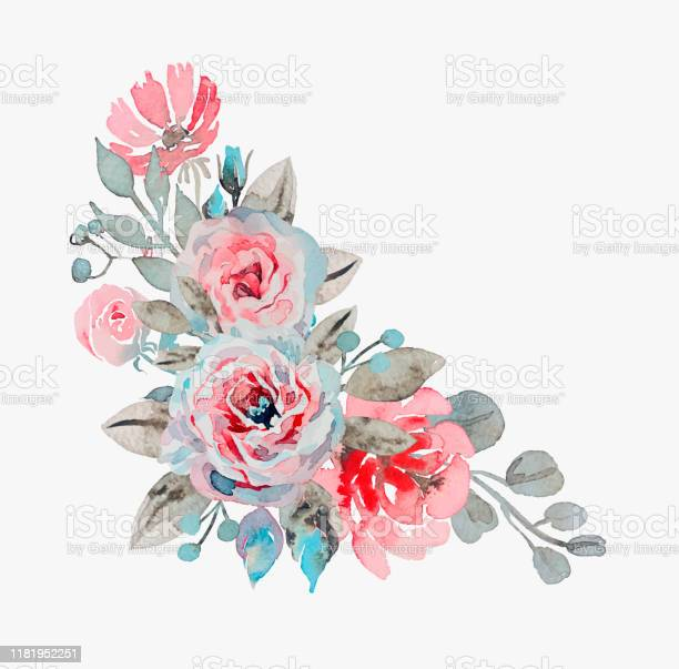 Handmade watercolor bouquet of flowers rose chamomile and pop vector id1181952251?b=1&k=6&m=1181952251&s=612x612&h=v2txqn7uqytlmfvzovzm1l3su0fuottkjxkakb97d4g=