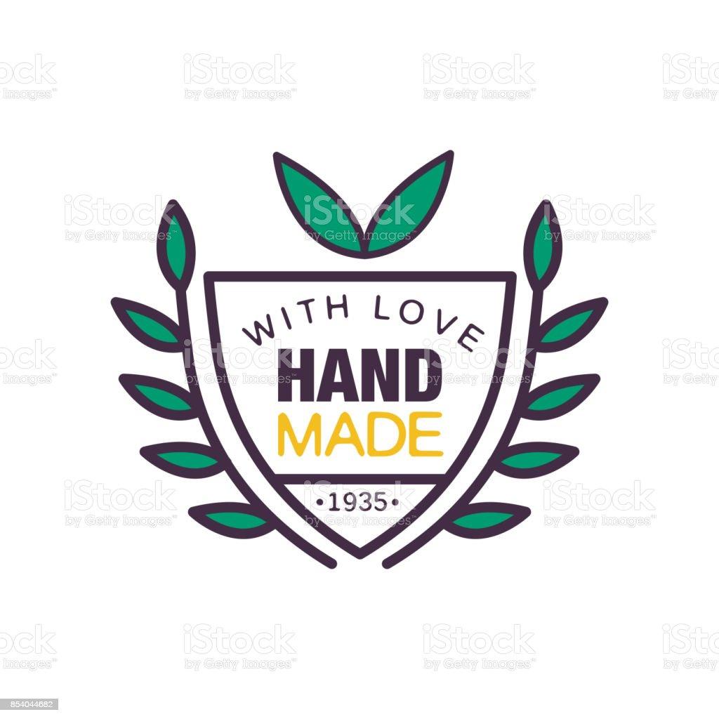 愛のロゴのテンプレート1935 年以来品質レトロな裁縫工芸バッジ手芸要素