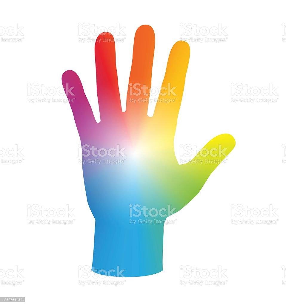 HandPalmRainbowColors – Vektorgrafik