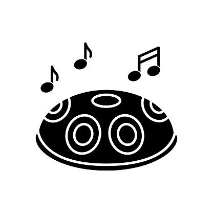 Handpan black glyph icon