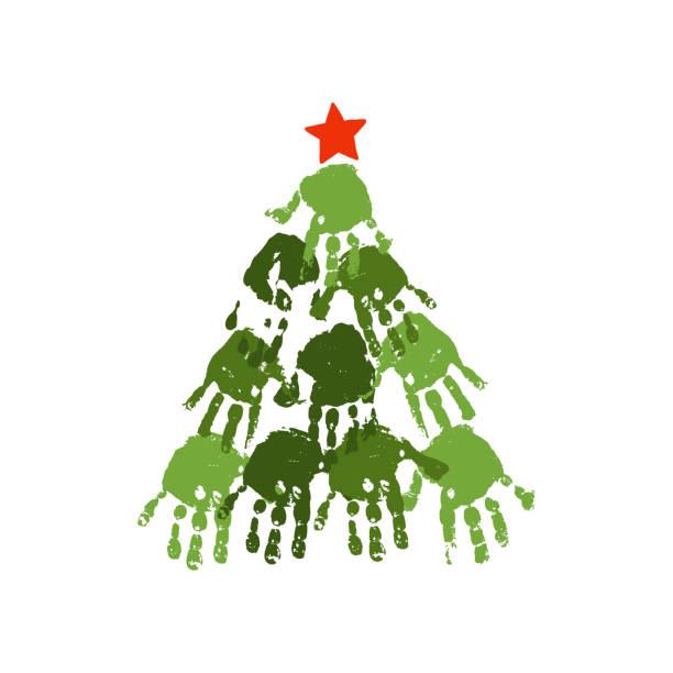 Royalty Free Fingerprint Tree Clip Art, Vector Images
