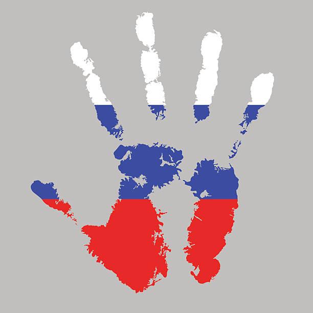 Handprint Flag Of Russia Cliparts Vectoriels Et Plus D