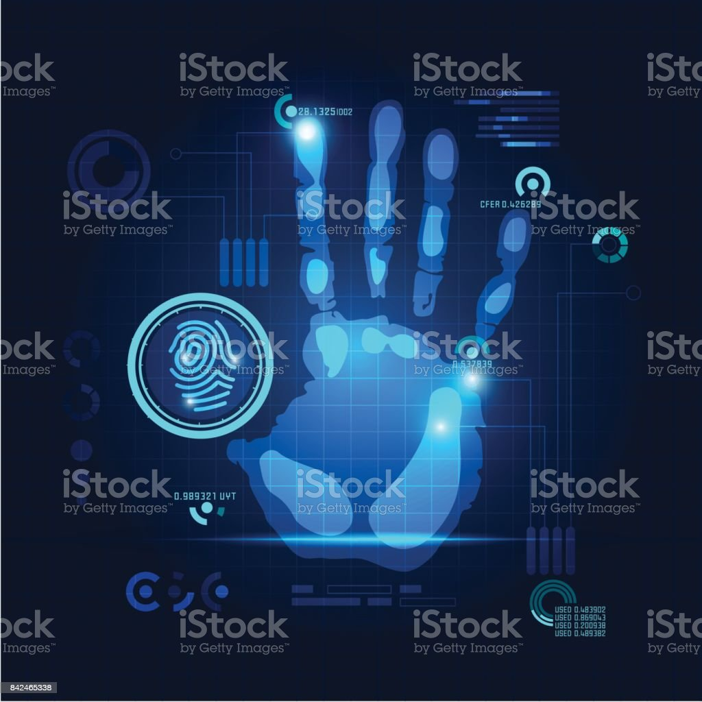 handprint vector art illustration