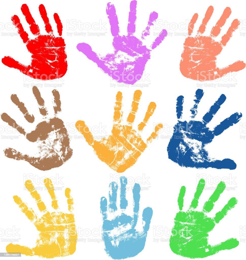 handprints - ilustración de arte vectorial
