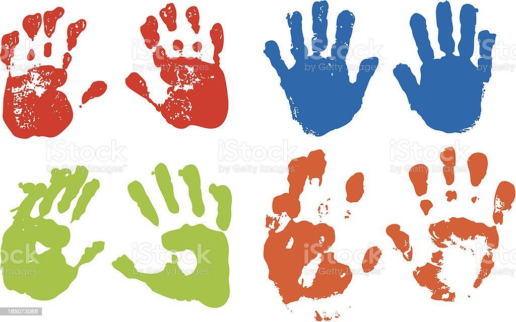 Handprints vector art illustration