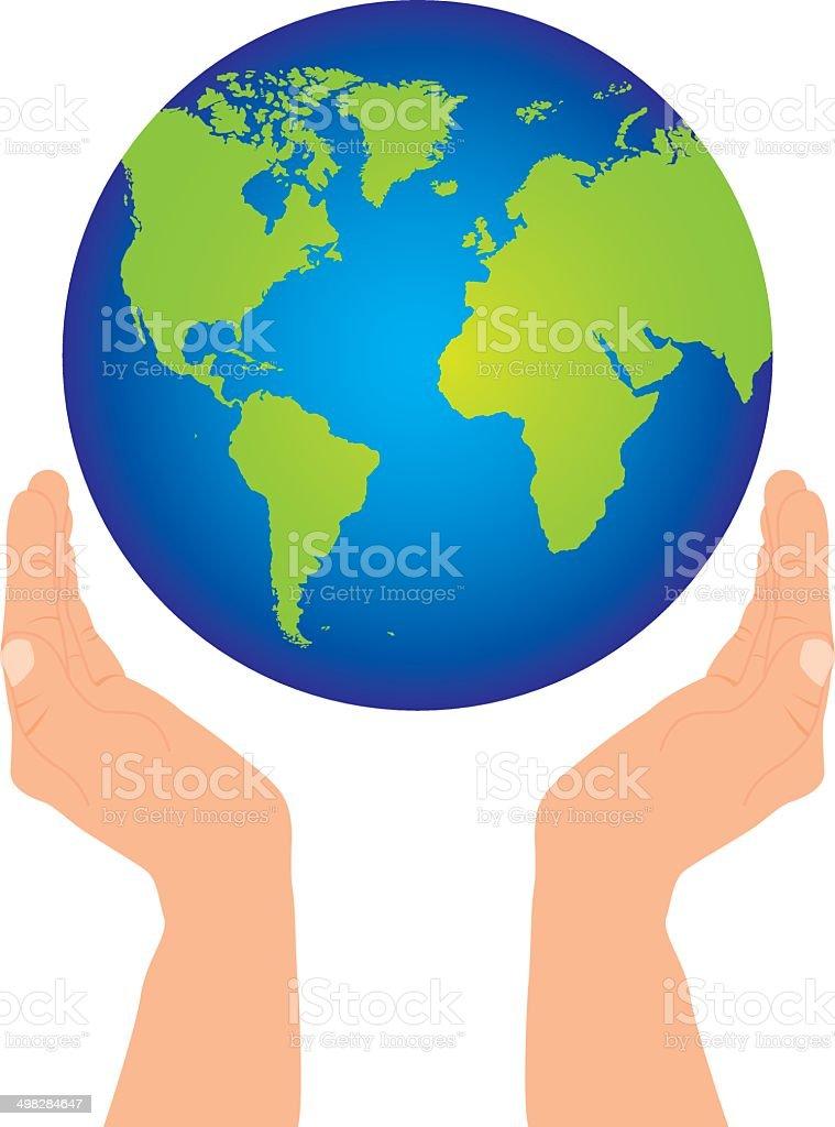 手と地球 アイコンのベクターアート素材や画像を多数ご用意 Istock