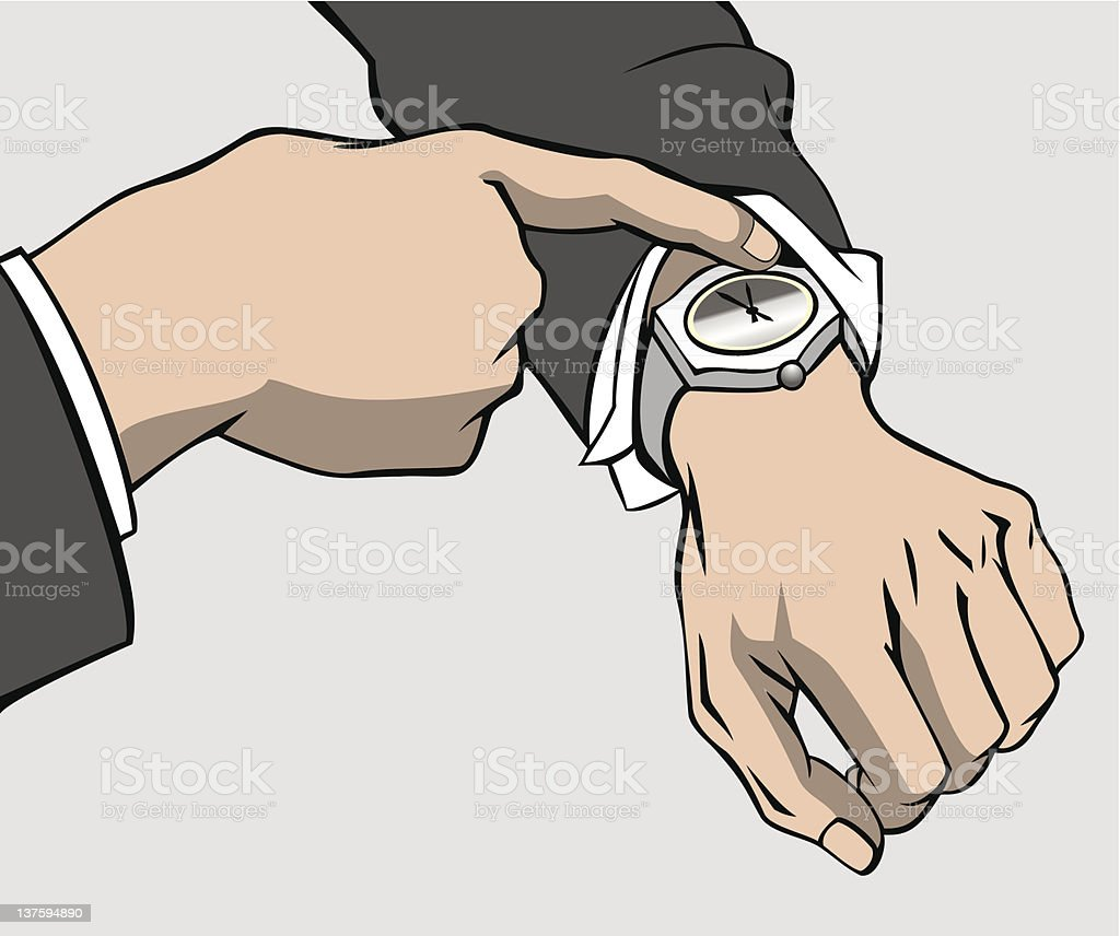 Hands and wristwatch royalty-free hands and wristwatch stock vector art & more images of accuracy