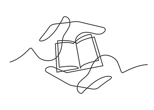 Hands book one line