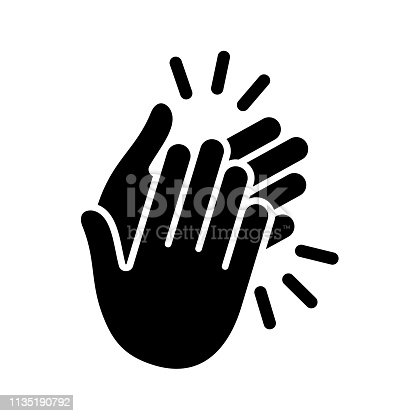 Hands clapping icon. Vector illustration