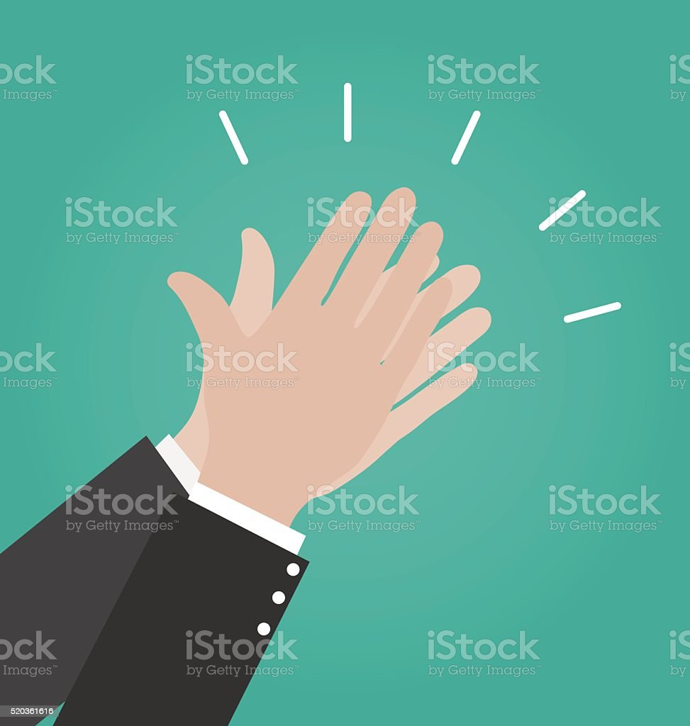 Hands clapping vector icons, Applause icon vector art illustration
