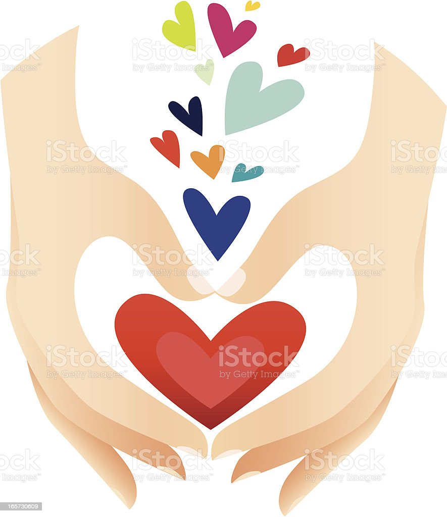 Hands forming Heart royalty-free hands forming heart stock vector art & more images of cartoon
