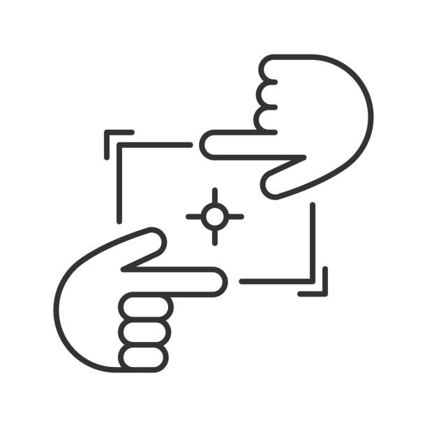 hände-frame-symbol - bildformate stock-grafiken, -clipart, -cartoons und -symbole