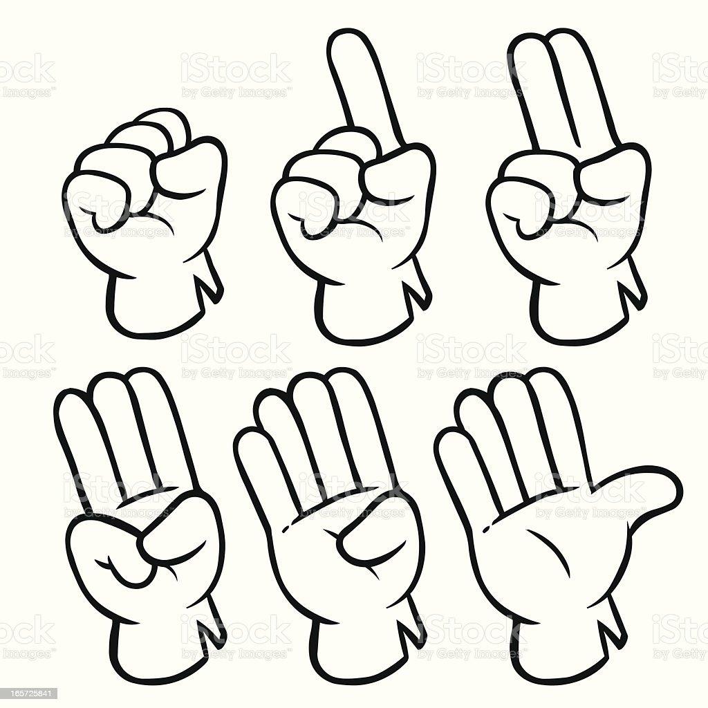 Hands Gesture Gloves royalty-free stock vector art