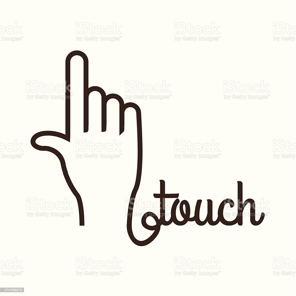 Hands Gesture vector art illustration