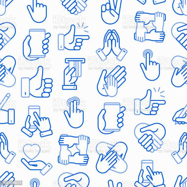 Hands gestures seamless pattern with thin line icons set handshake vector id1031503074?b=1&k=6&m=1031503074&s=612x612&h=b4xah2gk5lirhknpkk9iyjmo6m3gi g uqy5nujl4as=