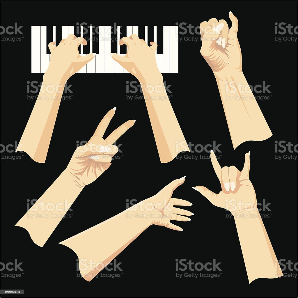 Hands Gestures royalty-free hands gestures stock vector art & more images of agreement