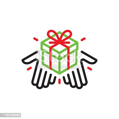istock Hands giving a gift box 1193289099