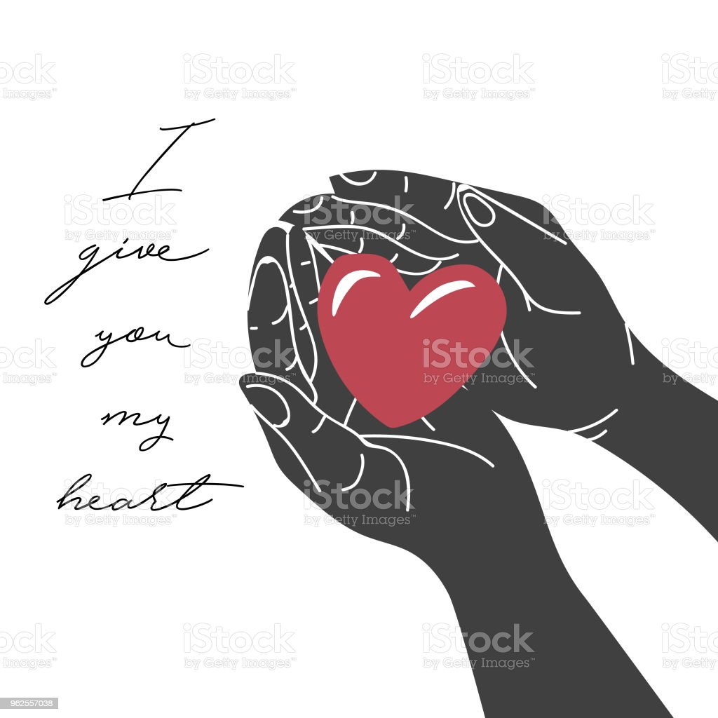 Hande Geben Rotes Herz Hande Halten Ein Herz Als Sicherheitskonzept