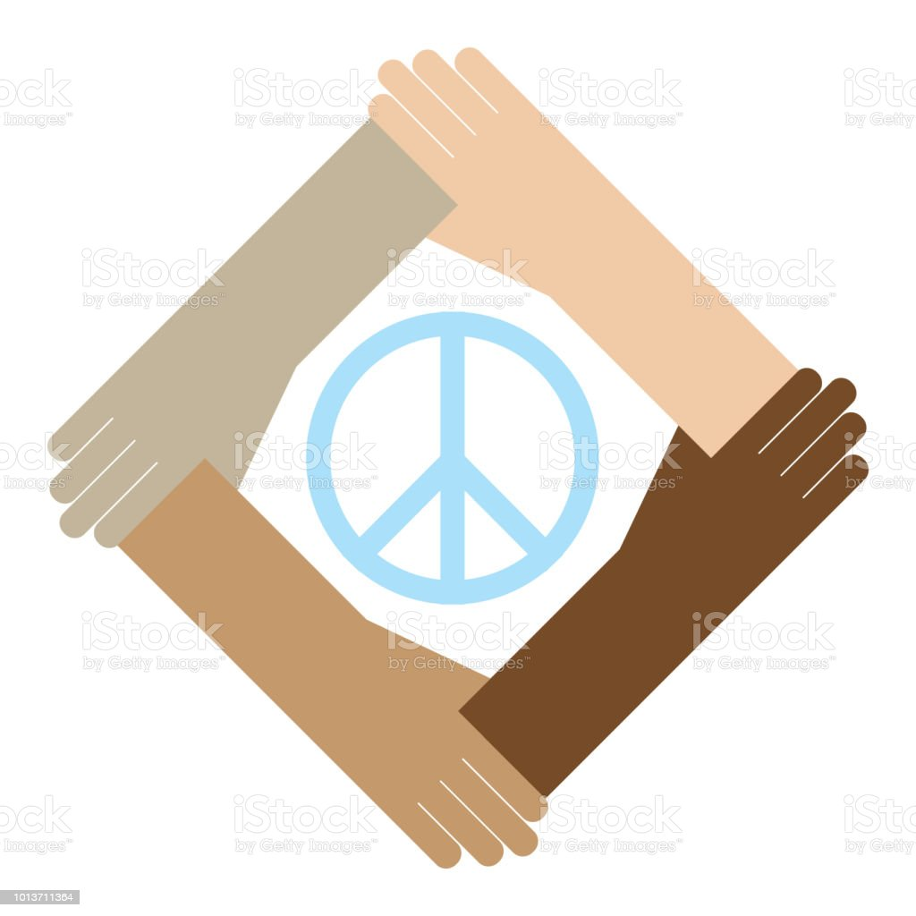Hands Holding A Peace Symbol Stock Vector Art More Images Of A
