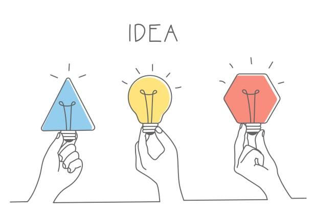 bildbanksillustrationer, clip art samt tecknat material och ikoner med händer som håller olika glödlampor. - hand tänder ett ljus